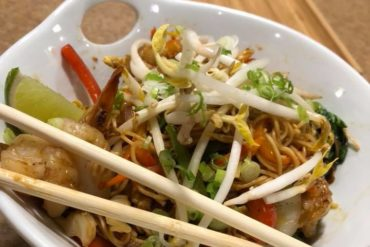 Food and chopsticks